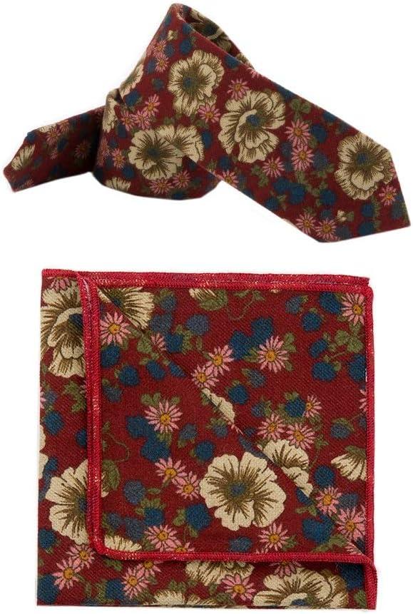 YINGJUN-TIES Fashion, Natural Handcrafted Tie Men's Suit Cotton Tie Square Towel Pocket Towel Classic Boutique Tie for Gentleman Men Male (Color : 4)