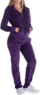 Sweatsuits for Women Tracksuit 2 Piece Outfits Velour & Fleece Active Wear Zip-Up Hoodie Sweatpants Sweat Suits