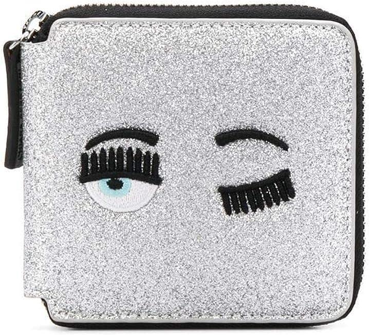 Portafoglio donna argento chiara ferragni luxury fashion donna cfwa001silver B084YQWFB3