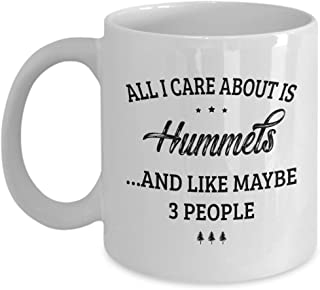 Hummels Mug - I Care And Like Maybe 3 People - Funny Novelty Ceramic Coffee & Tea Cup Cool Gifts for Men or Women with Gift Box