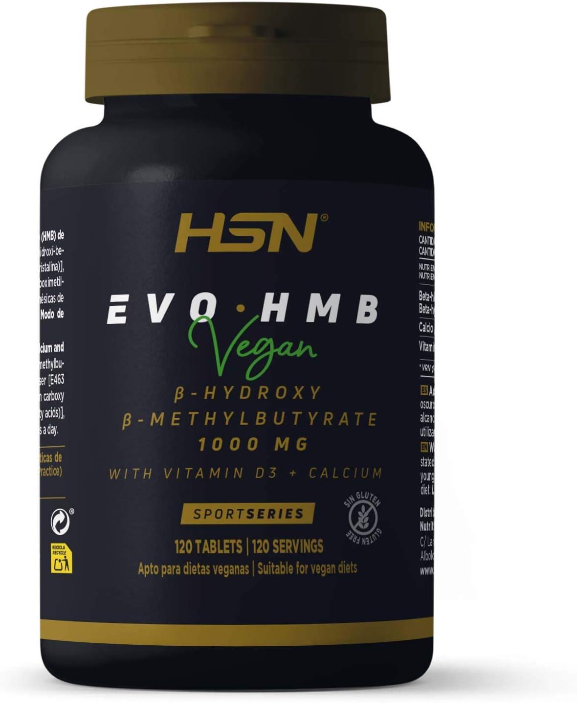 HMB de HSN Sports | Evohmb 1000 mg | Con Vitamina D | Anticatabólico, Ayuda a Ganar Masa Muscular, Recuperador, Ideal para Dieta de Definición | ...