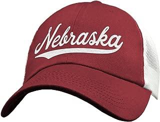 State of Nebraska Trucker Hat Baseball Cap - Snapback Mesh Low Profile Unstructured Sports - NE USA