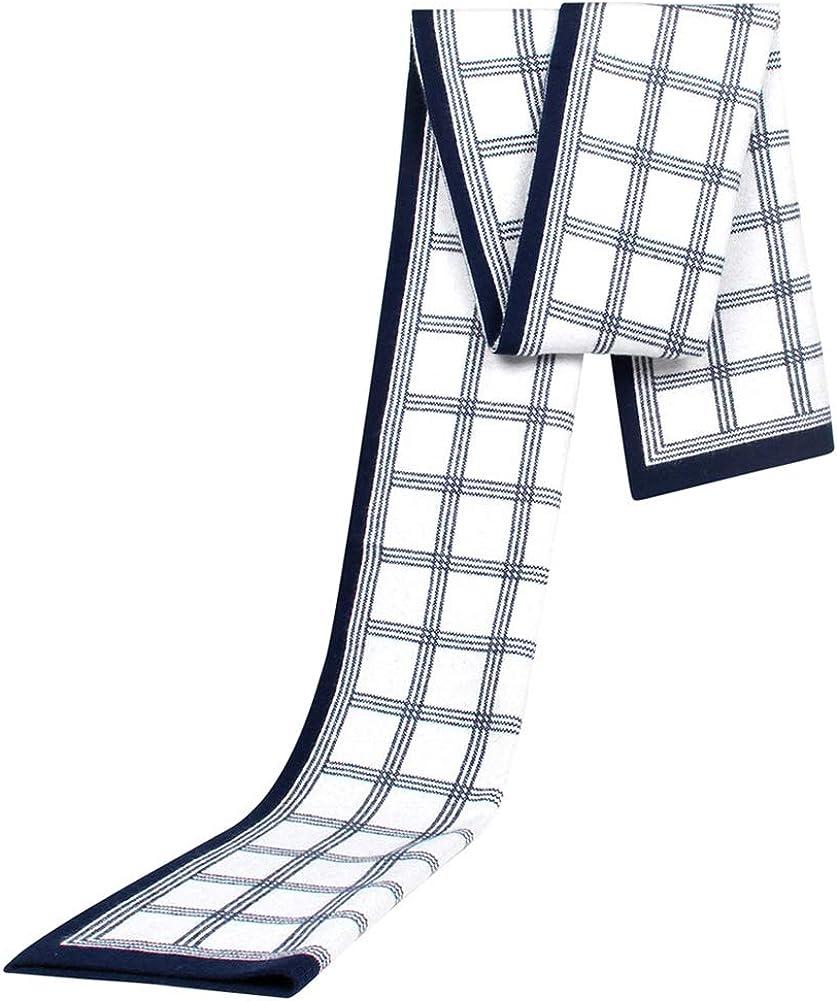 Knit Cashmere Like Acrylic Scarf Cozy Tartan Tassel Jacquard Thick Long Classic Soft Men Women Winter Fall Shawl