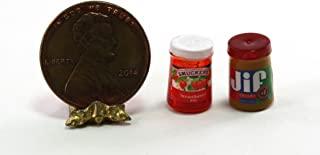 Dollhouse Miniature Popular Peanut Butter & Strawberry Jelly Set by Cindi039;s Minis