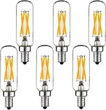 LiteHistory Dimmable t6 led bulb 40W Candelabra led 2700K Clear 400lm 4W e12 edison bulb 6Pack