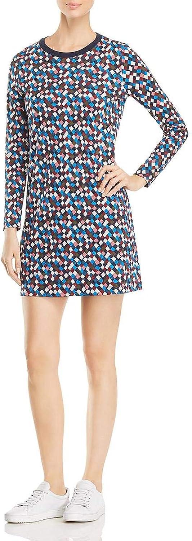 Tory Burch Womens Maggie Long Sleeves Above Knee Mini Sweatshirt Dress
