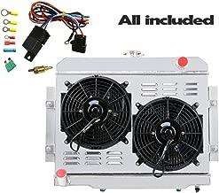 ALLOYWORKS 3-Row Radiator+Shroud+Fan+Thermostat Kit For 1972-1986 Jeep CJ5 CJ6 CJ7 Scrambler 3.8L 4.2L 5.0L L4 L6