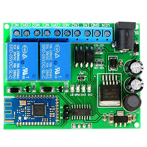DC 6.5-25V / DC 5V Módulo de relé de 2 Canales Teléfono Inteligente Bluetooth 4.0 Interruptor de Control Remoto inalámbrico Motor LED para iOS Android