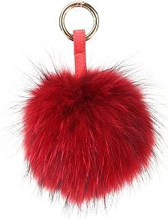 Car Keyring MUDAHA/_TR Faux Fur Pom Pom Keychain for Handbag Decoration Purse 10 PCS Furry Ball Keychains Like Black, Red, Purple, Pink Cell Phone Gold Ring Bag Charm Fluffy Puff Ball