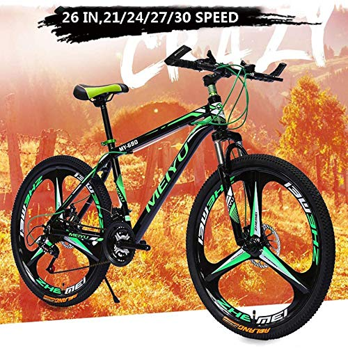 TRGCJGH Mountain Bike, 26 Inch Wheels, Men Women Mountain Trail Bike High Carbon Steel Outroad Bicycles, 21/24/27/30-Speed Bicycle,27speed