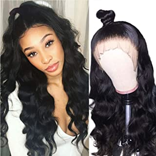 Xtrend Body Wave Human Hair Wigs with Brazilian Virgin Hair 130% Density 13x6 Lace Front Wigs Pre Plucked for Black Women 18 inch Weave Natrual Black Color Wigs