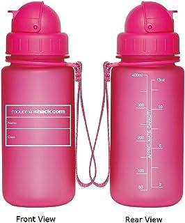 Botella de agua irrompible sin BPA de 400 ml para niños, para la escuela, de MountainShack