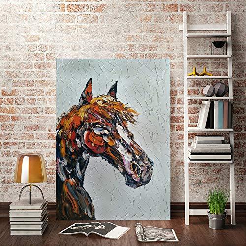 Drucken Ölgemälde Leinwand von Pferd Wandkunst Poster für Studie Wohnzimmer Büro Dekoration 50x70cm