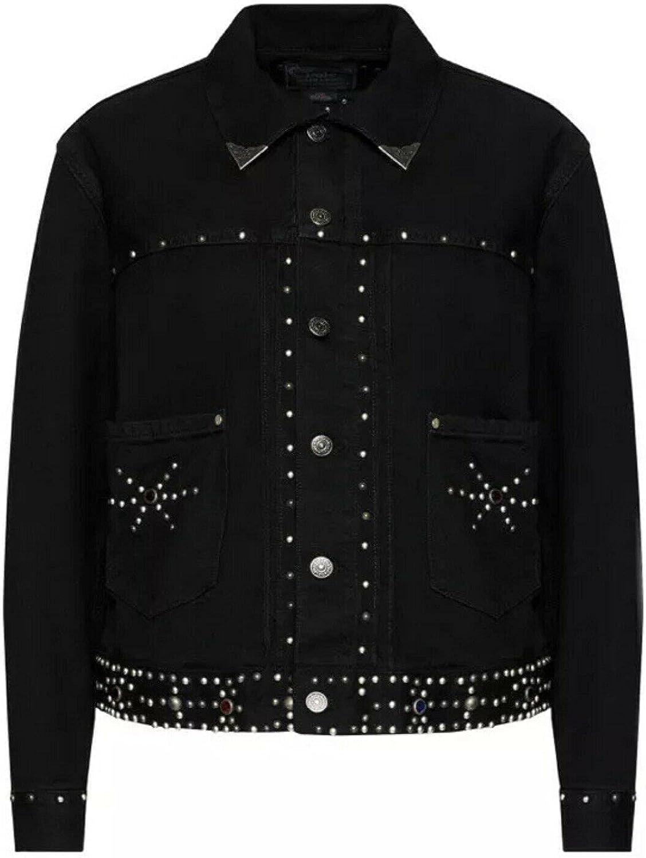 Ralph Lauren Women's Studded Western Denin Tucker Jacket Large L