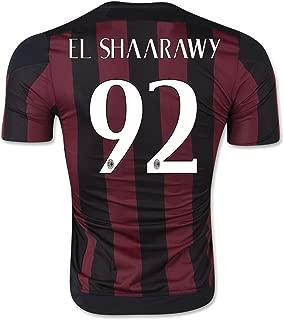 #92 Stephan El Shaarawy 2015/16 Red & Black Home Adult Soccer Jersey