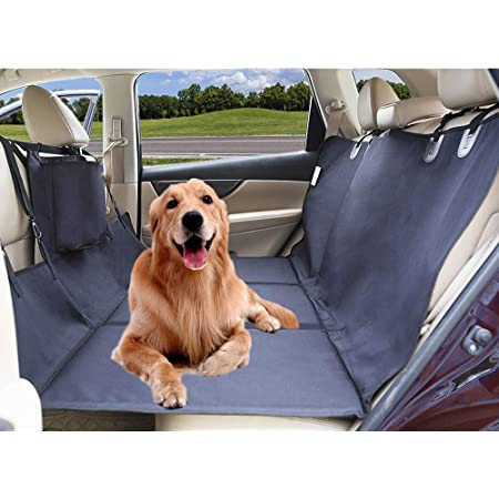 AMOCHIEN Seat Extender for Dogs - Backseat Extender for Dogs Back Seat Bridge Foam Platform Ideal for Trucks, SUVs, and Full Sized Sedans,Up to 100 lbs
