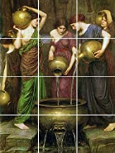 The Danaides by John William Waterhouse Kitchen Backsplash / Bathroom Wall / Art Tile Mural (4.25