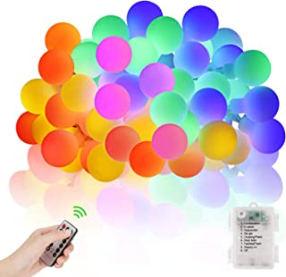 LED Globe String Lights 20ft/6m 40LED Fairy Ball Lights with Remote Control 8 Modes Waterproof Battery Operated Decorative...
