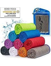 Cooling towel voor sport & fitness - microvezel handdoek/koeldoek als verkoelende handdoek voor het lopen, trekking, reizen & yoga – Cooling towel