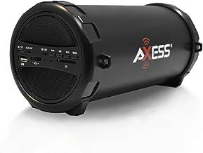 AXESS SPBT1031 Portable Bluetooth Indoor/Outdoor 2.1 Hi-Fi Cylinder Loud Speaker with..