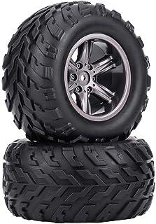 Dilwe 4 Stück TPR Reifen, Reifen und Naben Felgen für 1/12 RC Auto Lkw Crawler