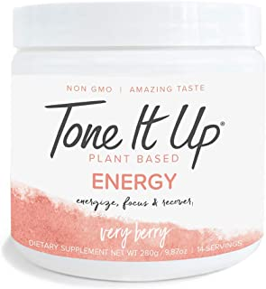 Tone It Up Energy Booster - Pre Workout Powder for Women - 14 Servings - Caffeine and Electrolytes Provides Energy and Foc...