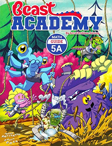 AoPS 8-Book Set : Art of Problem Solving Beast Academy 5A and 5B and 5C and 5D Guide and Practice 8-Book Set