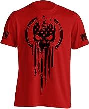 Dion Wear American Warrior Flag Skull Military T-Shirt