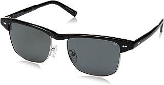 John Varvatos V606 Polarized Square Sunglasses, Black, 17 mm