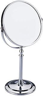 女優ミラー 化粧鏡 卓上鏡 2倍 拡大鏡 スタンドミラー メイク 化粧道具 両面鏡 360度回転 スタンドミラー 鏡面直径170mm