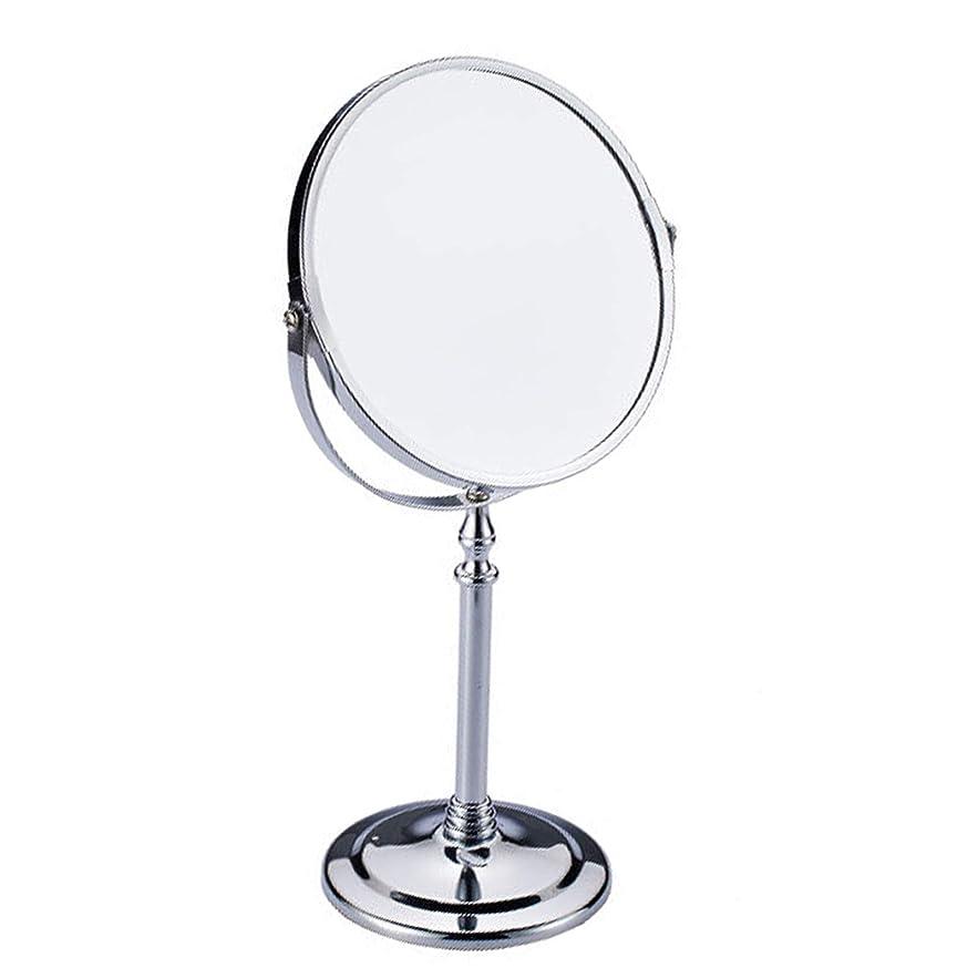 傑作海嶺体細胞女優ミラー 化粧鏡 卓上鏡 2倍 拡大鏡 スタンドミラー メイク 化粧道具 両面鏡 360度回転 スタンドミラー 鏡面直径170mm