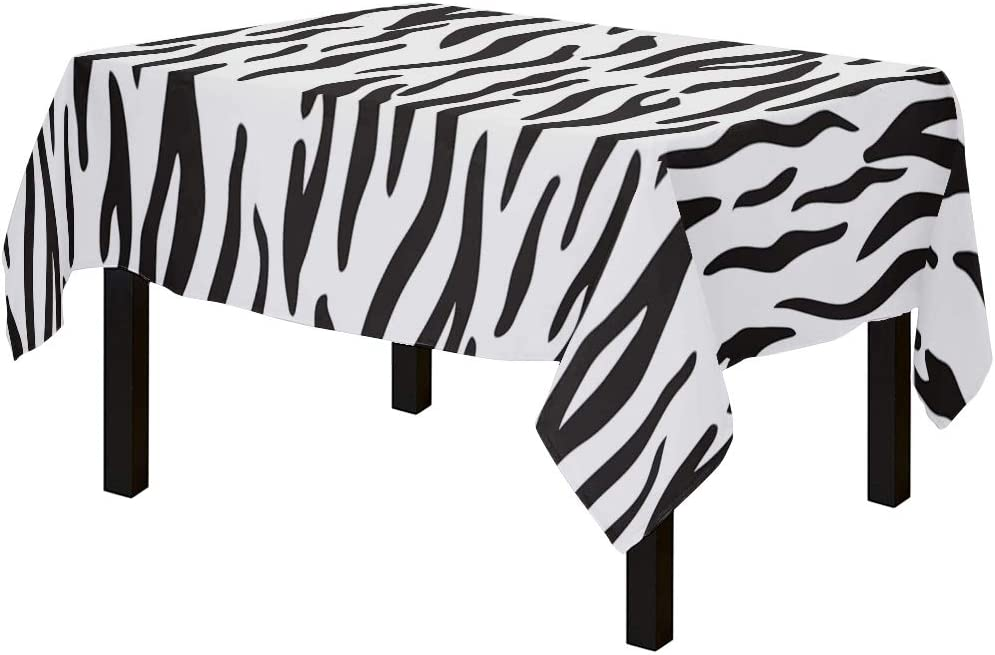 Yun 《週末限定タイムセール》 Nist Zebra Print Vector Art Cloths Cotton ●手数料無料!! Table Linen Spillp