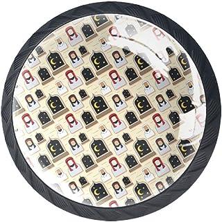 Botones redondos árabes de cristal con tornillos para muebles de gabinete de puerta aparador de armario y cajones 4 piezas