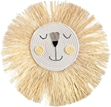 Yililay Wall Opknoping Lion Hangende Decoraties Woven Lion Head Ornament Handgemaakte Cartoon Wall Decor Style 5