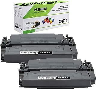 PayForLess Toner Cartridge 87A CF287A 2PK Black Compatible for HP Laserjet Enterprise M506 M506n M506x M506dn MFP M527 Series M501dn M501n Printers (87X CF287X)