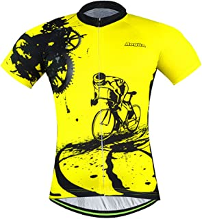 Aogda Cycling Jersey Men Bike Shirts Team Biking Clothing Bicycle Tights Short Sleeves Jacket