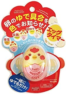 Boiled Inform The Degree of The Color of The DAISO Egg Timer Egg