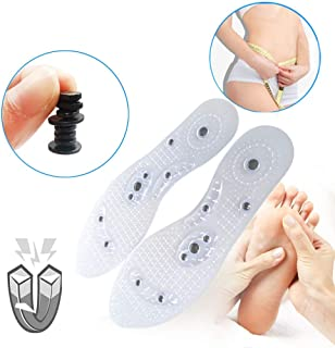 Massaging Insoles for Women & Men,Massaging Insoles Acupressure Magnetic Insoles, Effective Relieve Feet Fatigue,Washable and Cutable Shoe Insoles