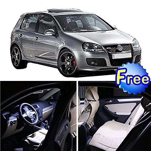 11 Pcs White LED Interior Light Bulbs Package Set Kit Fits for VW Golf GTi R32 Mk4 1999 1996 1997 1998 1999 2000 2001 2002 2003 2004 2005