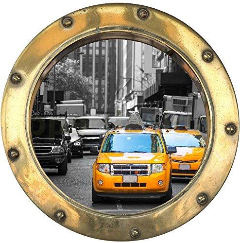 Sticker Trompe l'oeil Hublot Taxi New York - Y1010 (20x20cm)