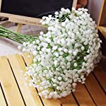 YESBAY Artificial Flowers for Decoration,Artificial Babysbreath Gypsophila Silk Flower for Home Room Office Party Wedding Decoration