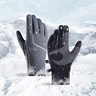 HIDELEXLAN Cycling Touch Screen Outdoor Gloves,Waterproof Autumn and Winter Gloves ,Jogging Skiing Hiking Gloves for Wome...
