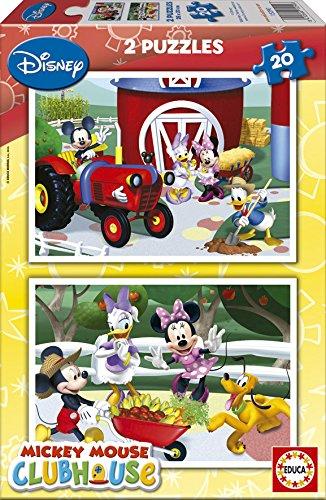 15290 Disney Mickey Mouse Club House   Puzzles (2 Unidades, 20 Piezas)