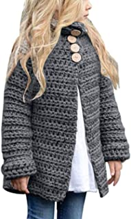 Toddler Baby Girls Autumn Winter Clothes Button Knitted Sweater Cardigan Cloak Warm Thick Coat