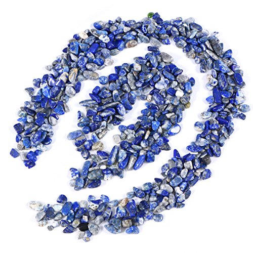 UEETEK Ghiaia lucidata colore misto decorativo pietre di roccia di fiume per acquario (blu)
