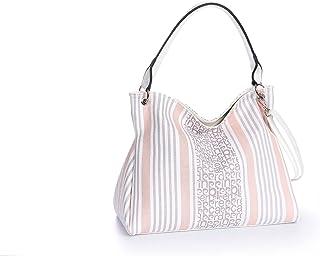 Pierre Cardin Tasche mit zweifarbigem Streifenmuster.