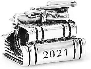 TCHYUN Graduation 2021 Nurse Love Like Birthday Family Best Girlfriend Teacher Baby Kids Silver Plated Bead Charms for Bra...
