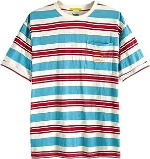 スコッチ&ソーダ Tシャツ SCOTCH&SODA Oversized T-Shirt ボーダー 292-74422 メンズ トップス 半袖 Tee オーバーサイズ 胸ポケット