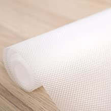 Kuber Industries Multipurpose Textured Super Strong Anti-Slip Mat Liner - Size 45X150cm (1.5 Meter Roll, White) - CTKTC022135