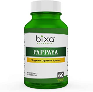 Bixa Botanical Papaya Leaf Extract (Carica Pappaya), Ayurvedic Herb for Supports Digestive System Herbal Supplement to Improve Immunity Level & Overall Blood Circulation Veg Capsules 60 Count (450mg)